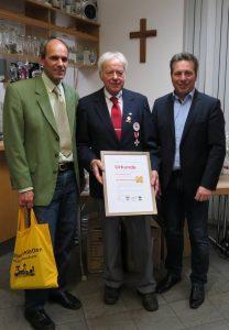 Wilhelm Honold mit Bürgermeistern